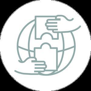 Icon internationale Zusammenarbeit