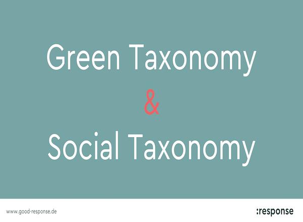 Green Taxonomy & Social Taxonomy